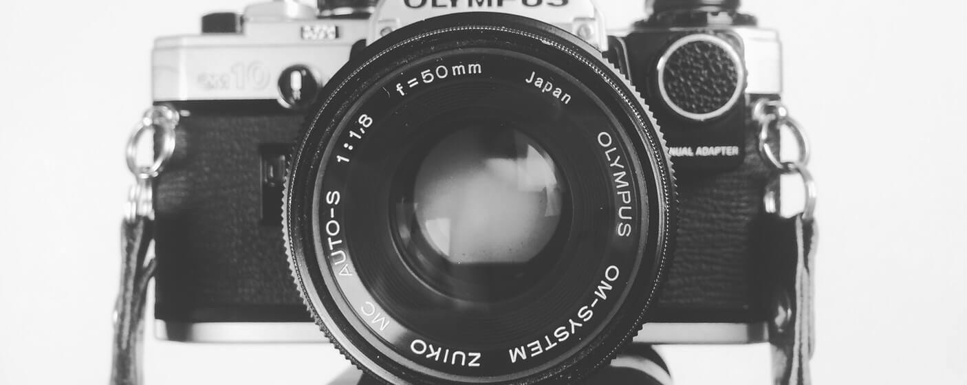 black and white camera lens