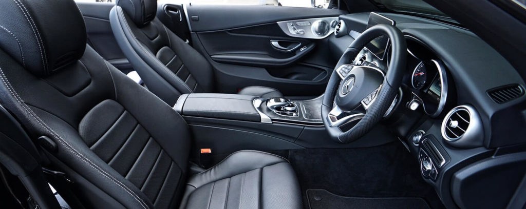 inside of a brand new car