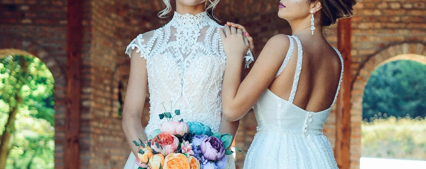 wedding dress and gowns